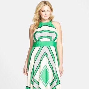 Eliza J Scarf Print Halter Maxi Dress
